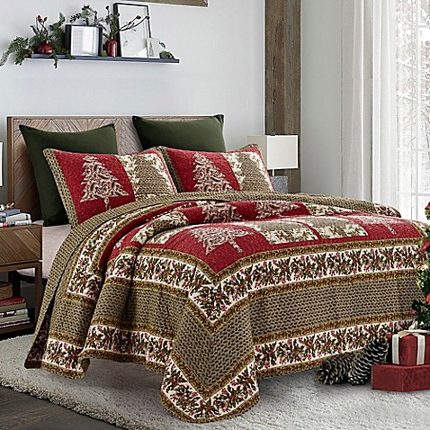 Holly Tree Quilt Set In Red Green Bed Bath Amp Beyond