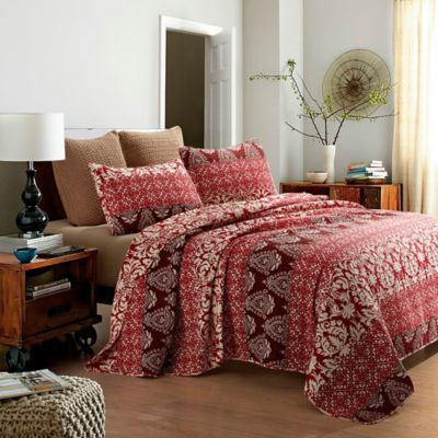 Buy Burgundy Queen Quilt From Bed Bath Amp Beyond