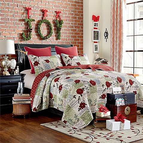 Christmas Song Quilt Set In Red Bed Bath Amp Beyond