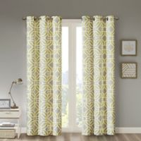 Intelligent Design Maci 84-Inch Grommet Top Window Curtain Panel in Yellow