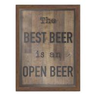Best Beer Shadow Box Wall Art in Brown