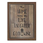 Good Wine Shadow Box Wall Art in Brown