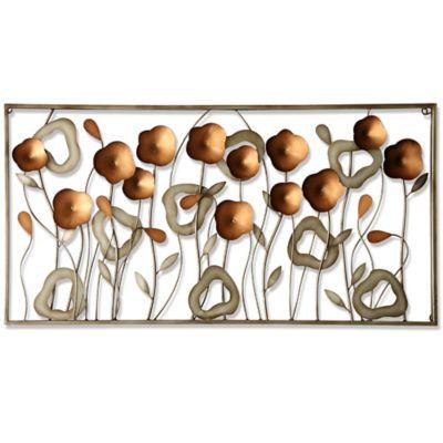 metal flower field wall art