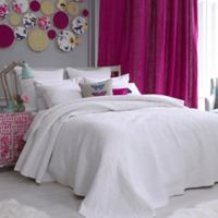 bluebellgray® Fern Solid Twin Coverlet in White