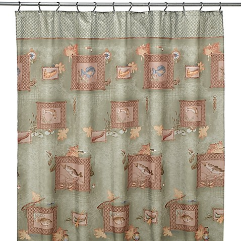 fishing shower curtain by saturday knight limited bed