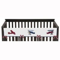 Sweet Jojo Designs Vintage Aviator Long Crib Rail Guard Covers