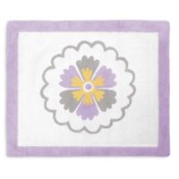 Sweet Jojo Designs Suzanna Accent Floor Rug in Lavender/White
