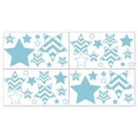 Sweet Jojo Designs Chevron Wall Decals in Turquoise and White