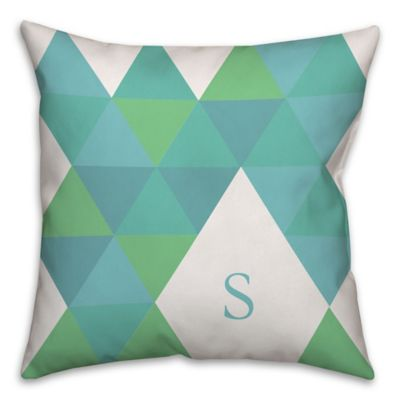 geometric square throw pillow in tealgreen - Decorative Pillows For Bed