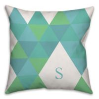 Geometric Square Throw Pillow in Teal/Green
