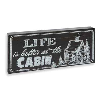 Boston International Life is Better at the Cabin Table Top Sign<BR>