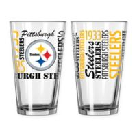 Boelter NFL Pittsburgh Steelers 2-Pack Pint Glass Set