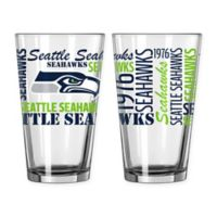 Boelter NFL Seattle Seahawks 2-Pack Pint Glass Set