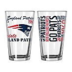 Boelter NFL New England Patriots 2-Pack Pint Glass Set