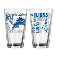 Boelter NFL Detroit Lions 2-Pack Pint Glass Set