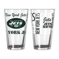 Boelter NFL New York Jets 2-Pack Pint Glass Set