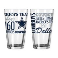 Boelter NFL Dallas Cowboys 2-Pack Pint Glass Set