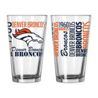 Boelter NFL Denver Broncos 2-Pack Pint Glass Set
