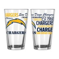 Boelter NFL San Diego Chargers 2-Pack Pint Glass Set
