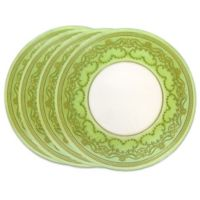 Classic Touch Trophy Salad Plates in Green (Set of 4)