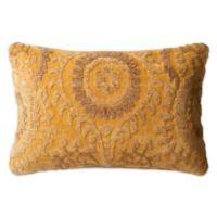Loloi Rich Viscose Oblong Throw Pillow in Butter
