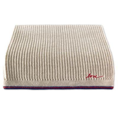 Buy Downtown Company Herringbone Throw Blanket In Taupe