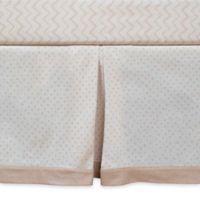Organic Cotton Polka Dot Bed Skirt in Brown