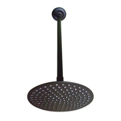 kingston brass showerhead with ceiling support in oil rubbed bronze