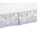 Sweet Jojo Designs Lavender and Grey Elizabeth Bed Skirt
