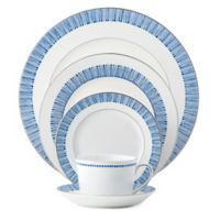 Monique Lhuillier Waterford® Malibu Azure 5-Piece Place Setting in Blue/White