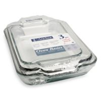 Anchor® Value Pack 3-Piece Glass Baking Set