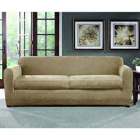 Sure Fit® Ultimate Stretch Chenille 2-Cushion Sofa Slipcover in Tan