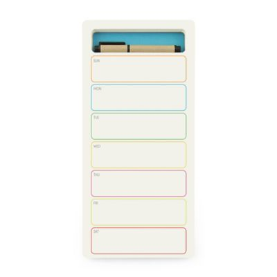 Three By Three Seattle® JOTBLOCK™ Weekly Notepad + Supply Caddy In Blue