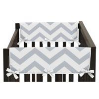 Sweet JoJo Designs Chevron Side Rail Guard Covers in Grey/White (Set of 2)