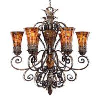 Metropolitan Lighting Salamanca 6-Light Chandelier in Bronze