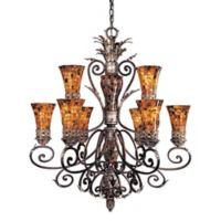 Metropolitan Lighting Salamanca 9-Light Chandelier in Bronze