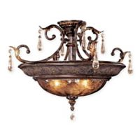 Metropolitan Sanguesa™ 3-Light Semi-Flush Mount Fixture in Sanguesa Patina™