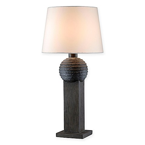 kenroy home garden table lamp in wood bed bath beyond. Black Bedroom Furniture Sets. Home Design Ideas