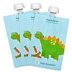 Sage Spoonfuls™ Squeezie 3-Pack 7 oz. Dinosaur Reusable Food Pouch