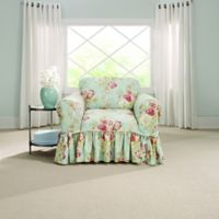 Sure Fit® Ballad Bouquet by Waverly™ Chair Slipcover in Robin's Egg Blue
