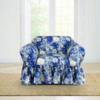 Sure Fit® Ballad Bouquet by Waverly™ Chair Slipcover in Indigo