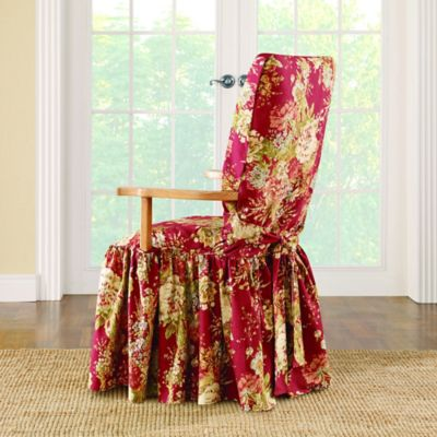 Sure Fit® Ballad Bouquet By Waverly™ Dining Room Chair Slipcover In Crimson