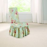 Sure Fit® Ballad Bouquet by Waverly™ Dining Room Chair Slipcover in Robin's Egg Blue