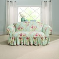 Sure Fit® Ballad Bouquet by Waverly™ Loveseat Slipcover in Robin's Egg Blue