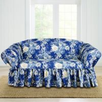 Sure Fit® Ballad Bouquet by Waverly™ Loveseat Slipcover in Indigo