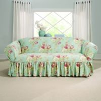 Sure Fit® Ballad Bouquet by Waverly™ Sofa Slipcover Robin's Egg Blue