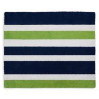 Sweet Jojo Designs Navy and Lime Stripe Floor Rug