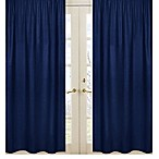Sweet Jojo Designs Solid Navy Window Curtain Panel Set