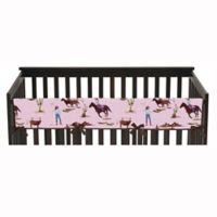 Sweet Jojo Designs Cowgirl Long Crib Rail Guard Cover
