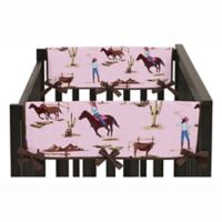 Sweet Jojo Designs Cowgirl Side Crib Rail Guard Covers (Set of 2)